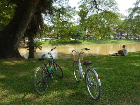 bike ridin in Siem Reap