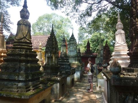 Cambodian graveyard