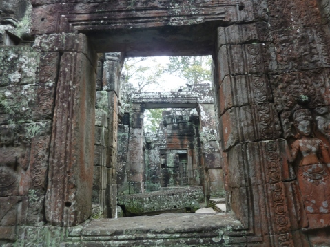 looking through Angkor Wat