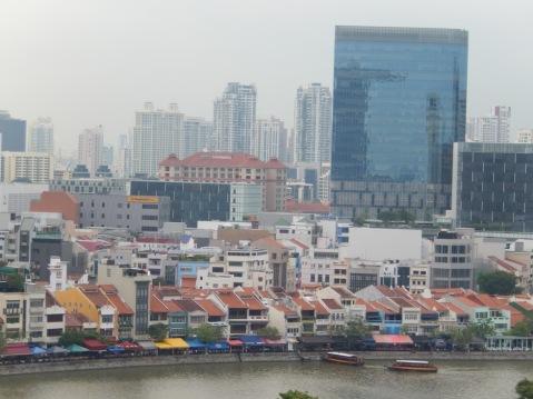 overlooking Singapore